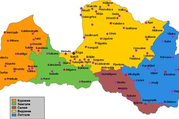 Есть ли у Латгалии границы и где она на карте?
